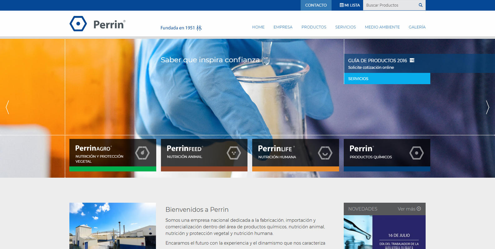 Perrin - Laboratorio de productos químicos